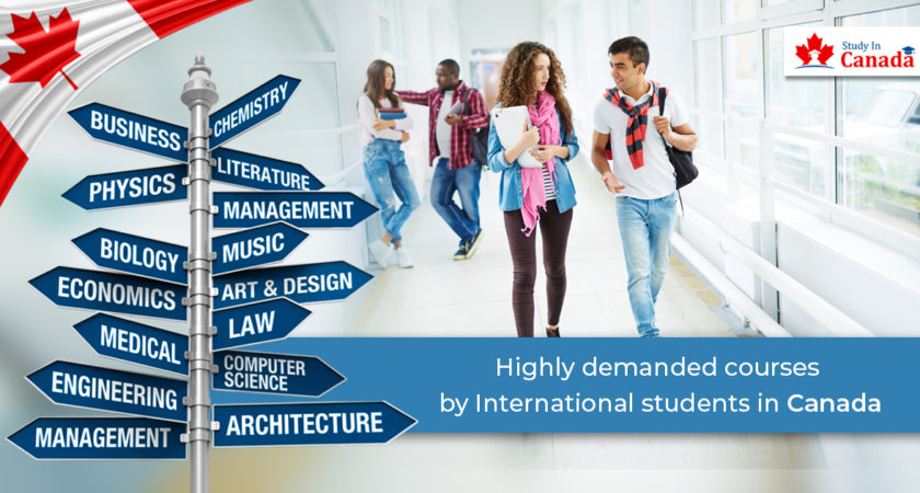 Highly demanded courses by international students in Canada!